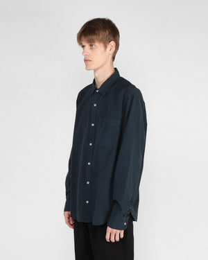 MEN'S POPLIN EASY SHIRT / NAVY