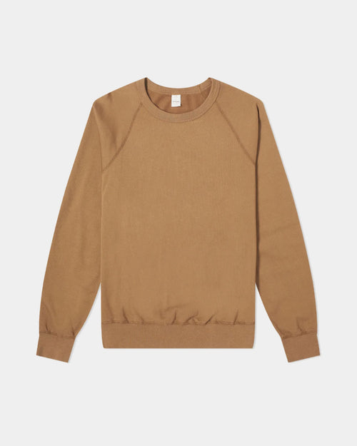 MEN'S FLEECE CREW SWEATSHIRT / MUSTARD
