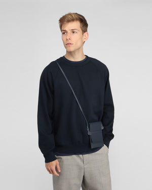 MEN'S FLEECE CREW SWEATSHIRT / NAVY