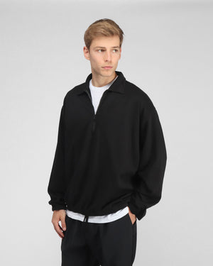 MEN'S SUPIMA QUARTER ZIP / BLACK