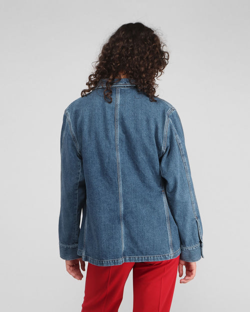 ARMY DENIM JACKET / WASHED BLUE
