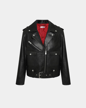 MAVERICK LEATHER JACKET / BLACK