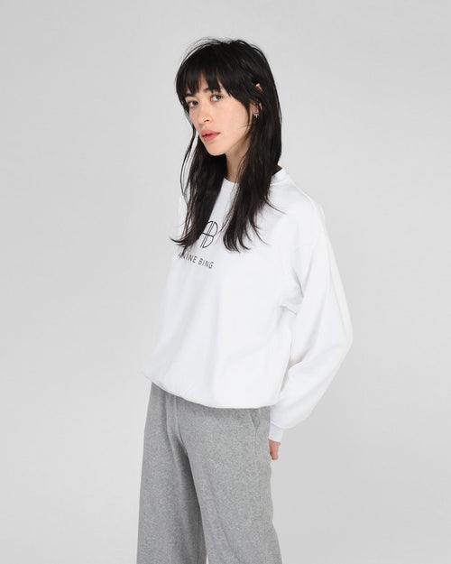 RAMONA SWEATSHIRT MONOGRAM / WHITE