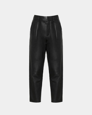 BECKY LEATHER TROUSER / BLACK