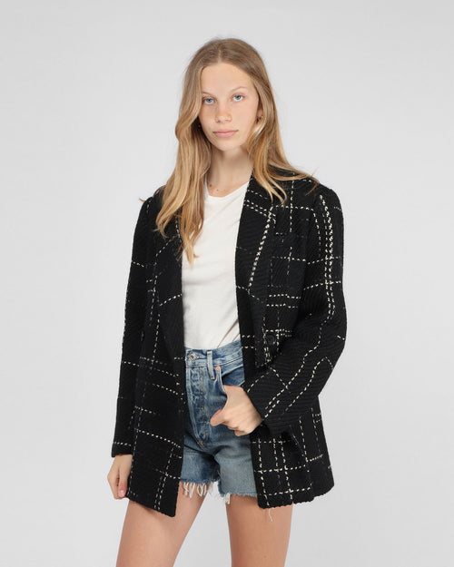 KAIA BLAZER / BLACK PLAID