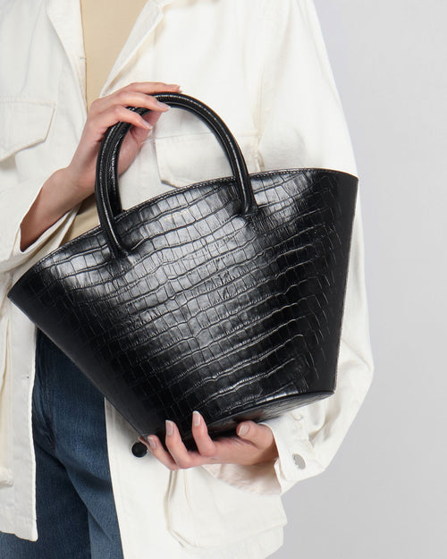 MINI HOLLAND BAG / BLACK CROCO