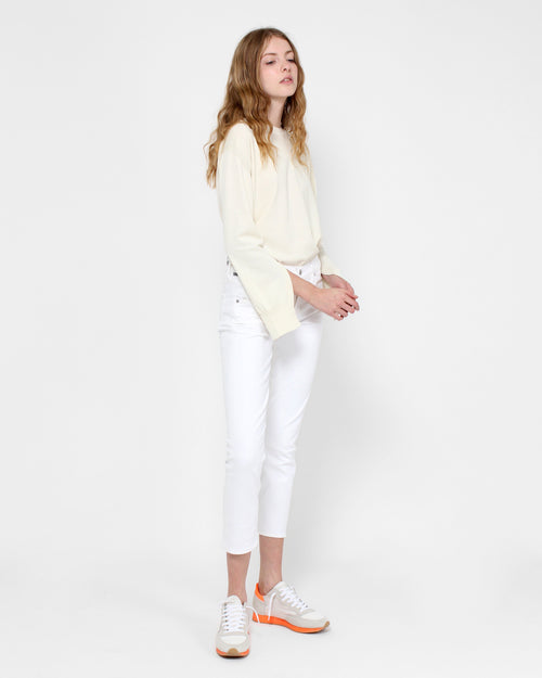 Elsa Mid Rise Slim Crop / Sea Salt