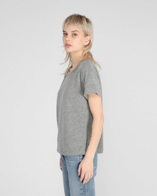 BETTY RELAXED T-SHIRT / HEATHER GREY