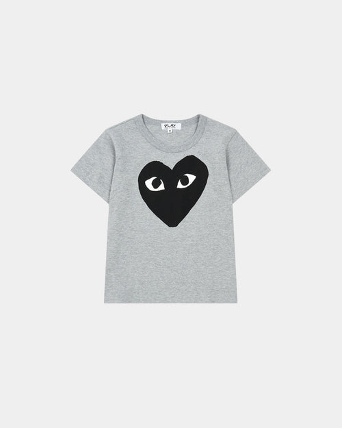 KIDS BIG BLACK HEART T-SHIRT T569 / GREY