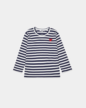 KIDS L/S STRIPED T-SHIRT T509 / NAVY