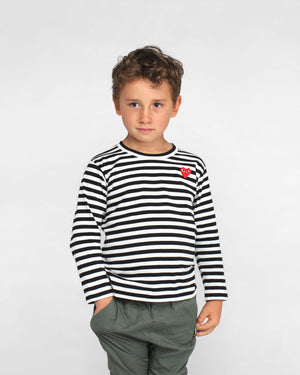 KIDS L/S STRIPED T-SHIRT T663 / BLACK
