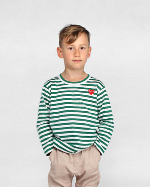 KIDS L/S STRIPED T-SHIRT T663 / GREEN