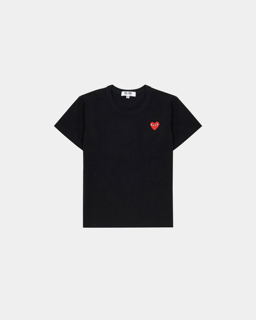 KIDS MINI RED HEART T-SHIRT T501 / BLACK
