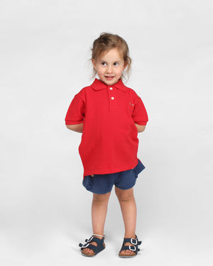 KIDS POLO SHIRT T505 / RED