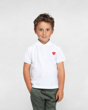 KIDS POLO SHIRT T505 / WHITE