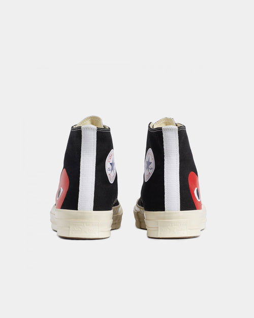 Comme Des Garcons Converse high top 70s x play cdg trainers, Mens, Size: 11, Black