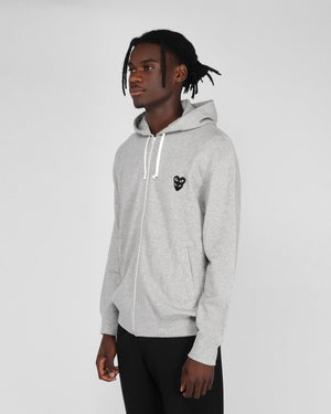 MEN'S HOODIE T302 BLACK HEART / GREY