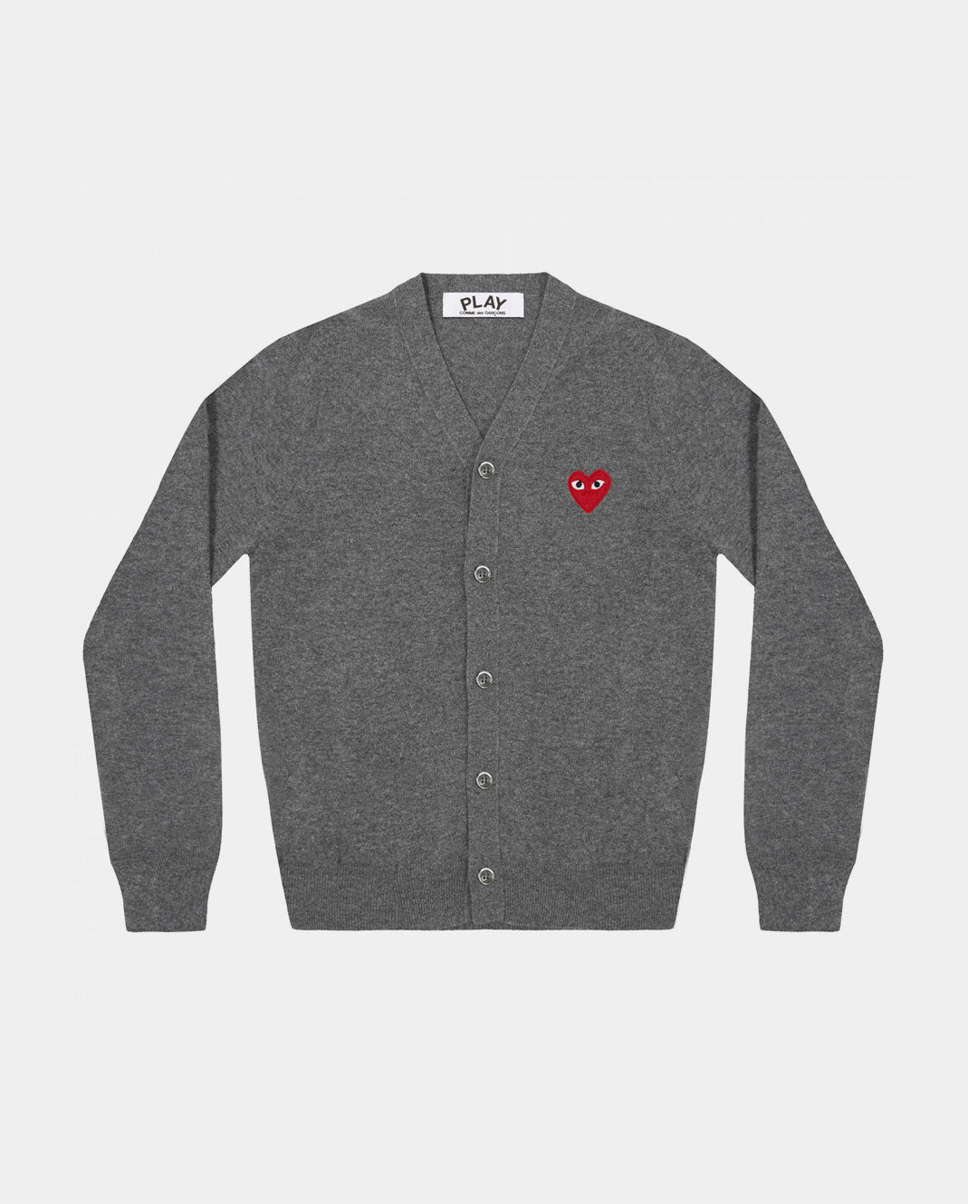 CARDIGAN N008 RED HEART PATCH / GREY