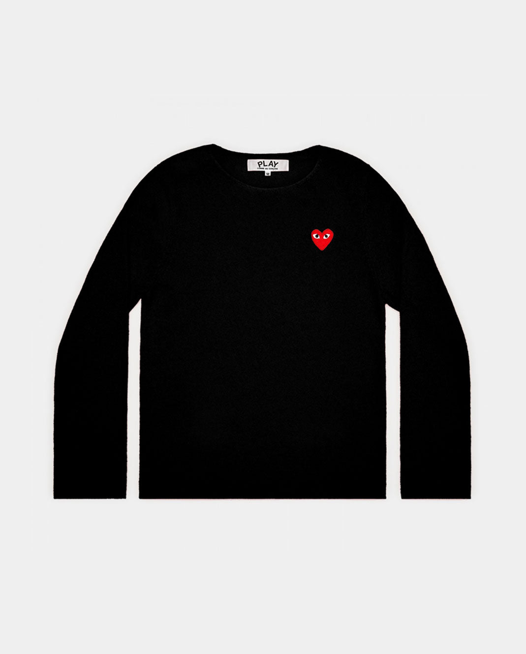 N067 CREW NECK JUMPER / BLACK