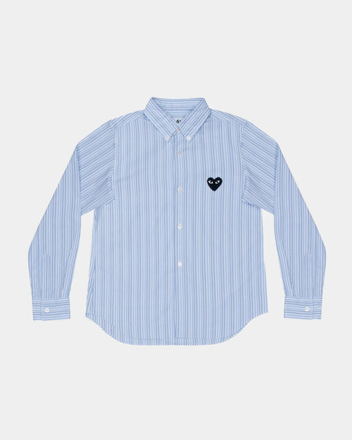 WMN'S SHIRT B009 / BLUE STRIPE