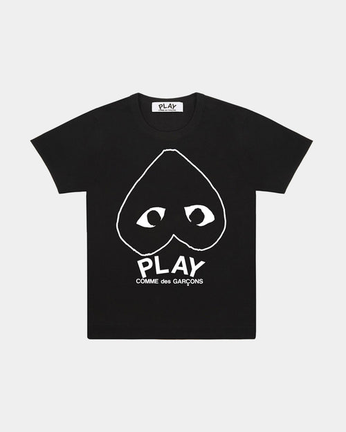 T-SHIRT T113 BIG HEART LOGO / BLACK