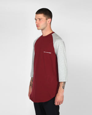 BASEBALL T-SHIRT / BURGUNDY