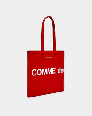 HUGE LOGO TOTE BAG / RED