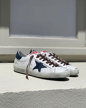 MEN'S SUPERSTAR SNEAKER / WHITE NAVY