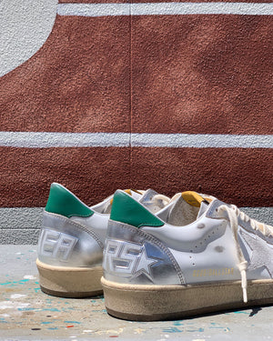 BALL STAR SNEAKER / WHITE SILVER GREEN