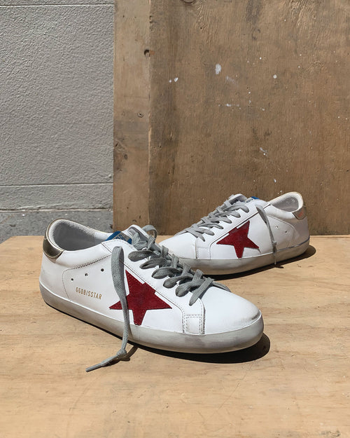 SUPERSTAR SNEAKER / WHITE BURGUNDY