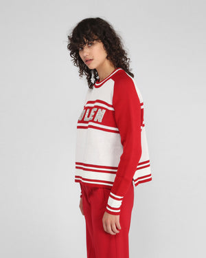 DIANNE SWEATER / RED STRIPE