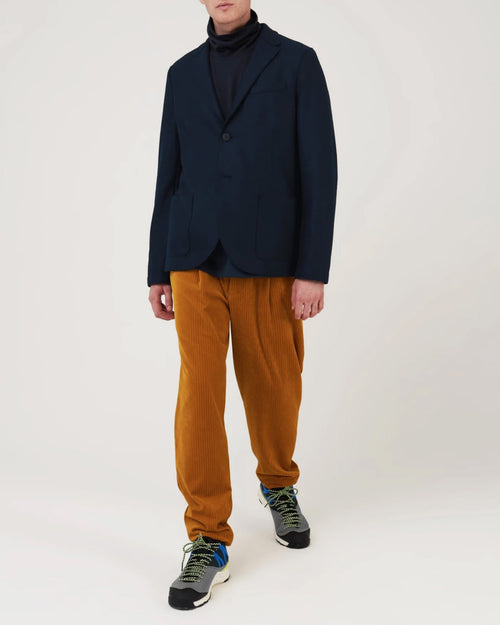LIGHT WOOL BLAZER / NAVY
