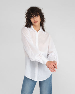 BILLOW SLEEVE SHIRT / WHITE