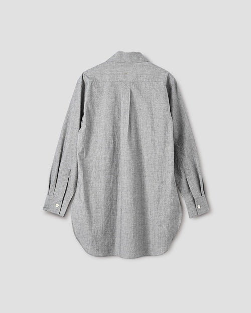 LONG BUTTON THROUGH SHIRT / GREY