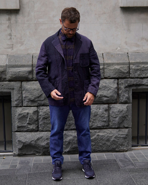PATCHWORK JACKET / NAVY