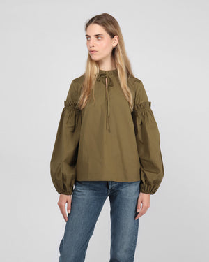 MAIA SHIRT / DARK OLIVE