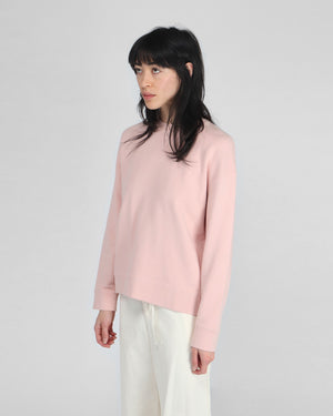 WMN'S LOOPBACK SWEATSHIRT / DUSTY PINK