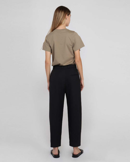 TWISTED SEAM TROUSER  / BLACK