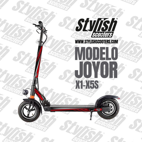 Vinilo para scooter eléctrico Joyor X1 - X5S - Stylish Scooters