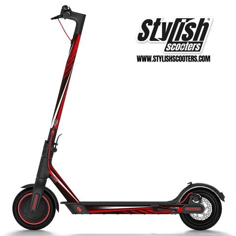 Vinilo para scooter Xiaomi m365 Sport Red - Stylish Scooters