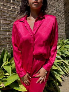 Satin Ruby Top
