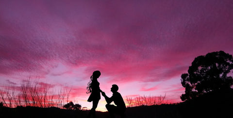 Proposal in silhouette