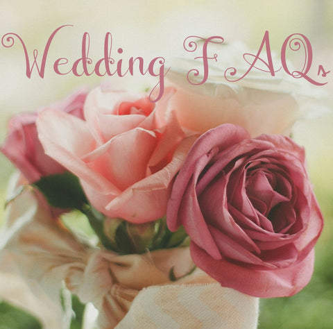 Wedding FAQs with pink rose