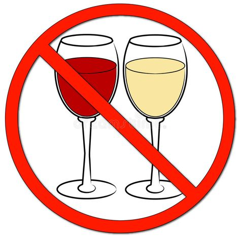 Wine not allowed sign