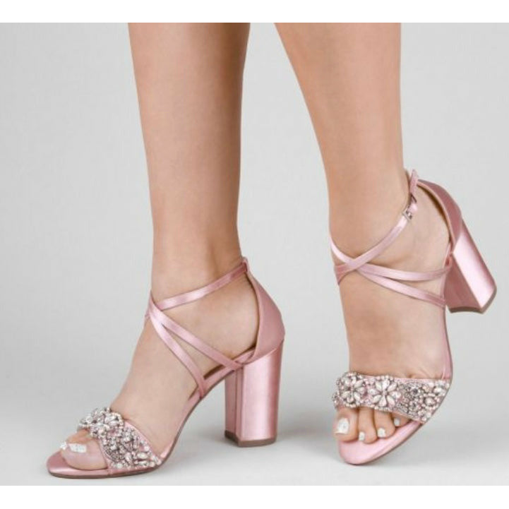 The Hira Blush Bridal Shoes - Elegance of Elena