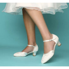Load image into Gallery viewer, The Ingrid Lace Bridal Shoes Elegance of Elena