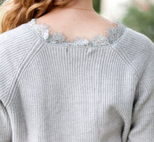 Load image into Gallery viewer, Just a Peek of Lace Sweater