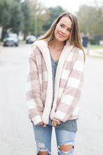 Load image into Gallery viewer, Inside Out Plaid Teddy Sherpa Jacket