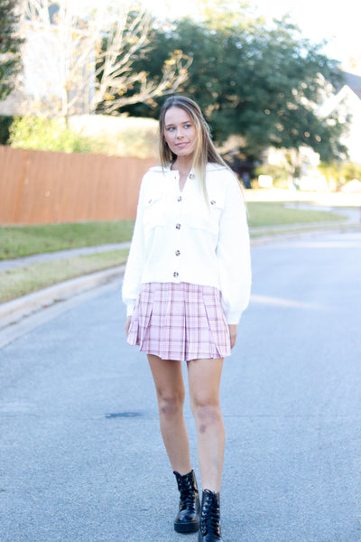 Love Letters Plaid Skirt