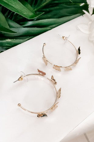 Fly with me hoop earrings